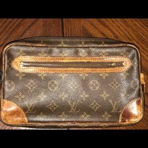 Louis Vuitton LV Marly Dragonne Wristlet Authentic